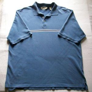 Eddie Bauer Blue Short Sleeve Polo Shirt